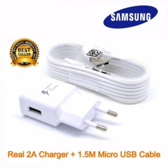 Samsung Travel Charger 15W Original fast charging Konektivitaskabel Micro USB for Samsung galaxy Note 4/Galaxy S6/S7/A5 - Putih