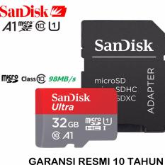 SanDisk Ultra MicroSDHC 98MB/s 32GB A1 Class 10 UHS-1 With Micro SDHC - SD Card Adapter - Red-Grey