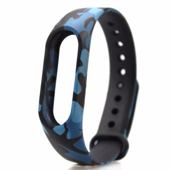 Silicone Replace Bracelet Wristbands Strap for Xiaomi Mi Band2/MiBand 2/Xiaomi Band 2/Mi Band 2 - Blue Army