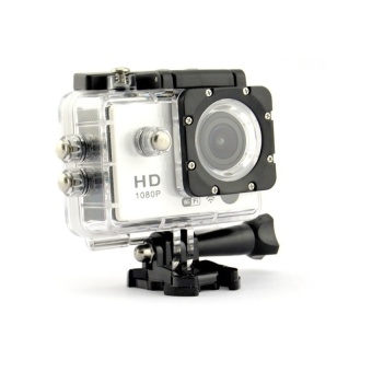 SJ6000 Style Action Camera W9 12MP CMOS 1080P HD 2.0 inch LCD Screen Sport Camcorder (Silver) - intl