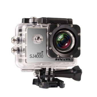 SJCAM Original SJ4000 WiFi Version Full HD 1080P 12MP Action Camera 30m Waterproof Sports DV Silver - intl