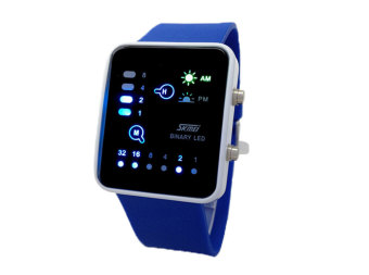 SKMEI Waterproof LED Digital Jam Tangan Kasual (Biru)