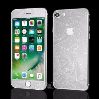 Sloof Tempered Glass Mirror 3D Diamond Front & Back iPhone 7/7S - Silver