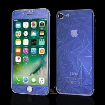 Sloof Tempered Glass Mirror 3D Diamond Front & Back iPhone 7Plus / 7S Plus - Biru