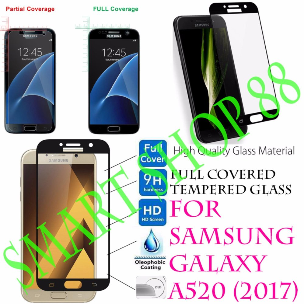 Smart Full Cover Tempered Glass Warna for Samsung Galaxy A7 2017 Putih