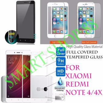 Smart Full Cover Tempered Glass Warna for Xiaomi Redmi Note 4/4x - Putih