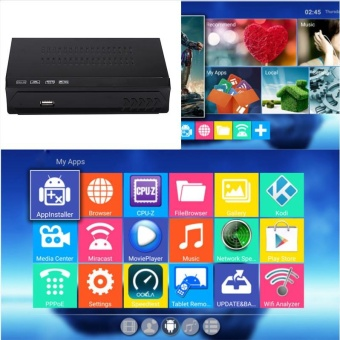 Smart IOS8 Android 5.0 TV Box WiFi HD1080P HD Media Player Black - intl