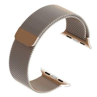 Smart watch band, sepenuhnya magnetik penutupan gesper Stainless Steel gelang tali untuk Apple Watch Sport & edisi 38mm