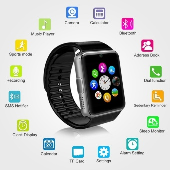 Smart Watch GT08 Clock Sync Notifier Support Sim Card Bluetooth Connectivity iphone Android Phone Smartwatch Watch - intl - 2