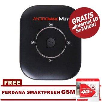 Smartfren Modem MiFi Andromax M3Y + Free Kartu perdana GSM - Hitam