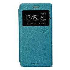 Smile Flip Cover Case untuk Vivo Y21 / Y22 - Biru Muda