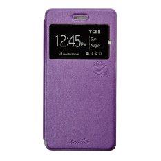 Smile Flip Cover Case untuk Vivo Y21 / Y22 - Ungu