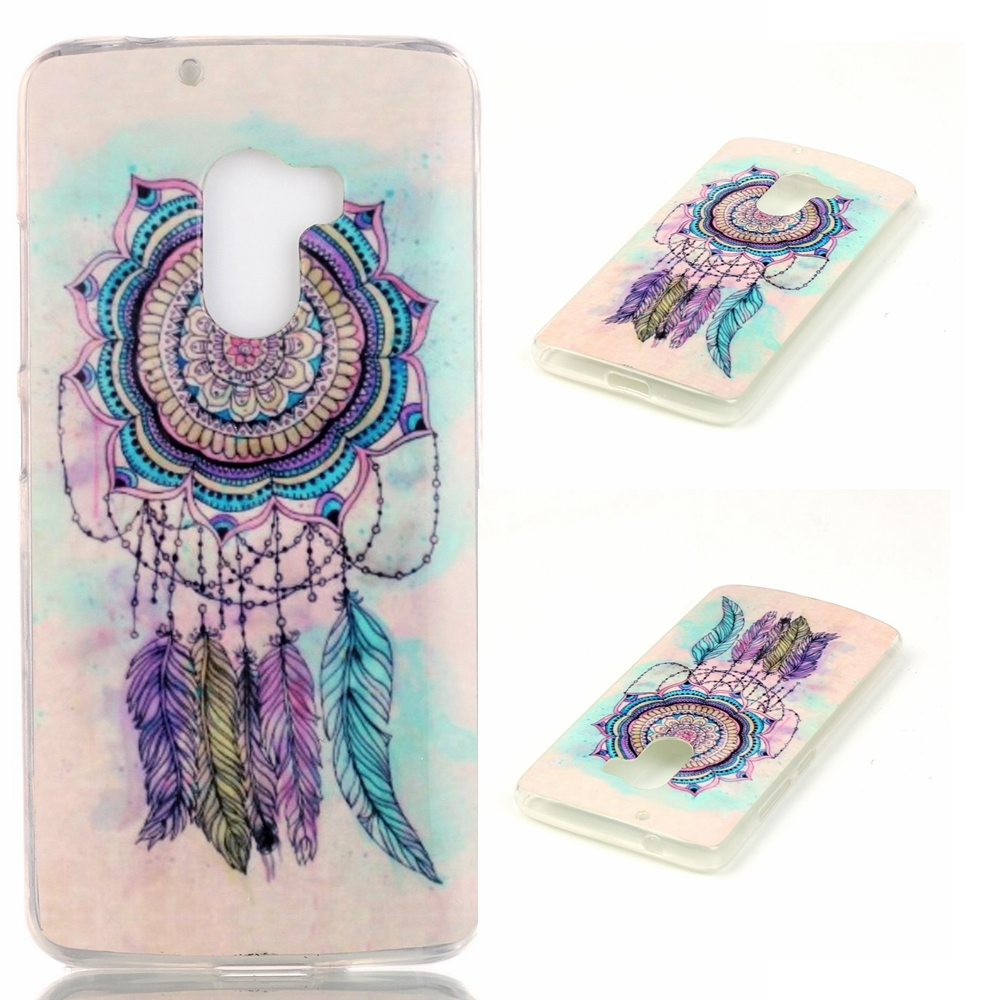 Soft IMD TPU Feather Dream Catcher Case Shell for Lenovo A7010 / Vibe .