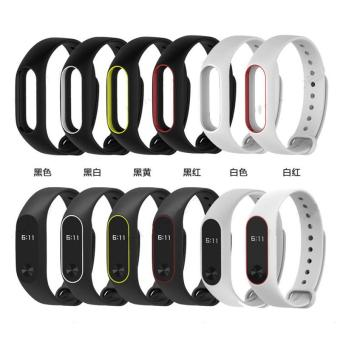 Soft Silicone Wrist Band Strap Bracelet Replacement For Xiaomi MIBand 2 - intl