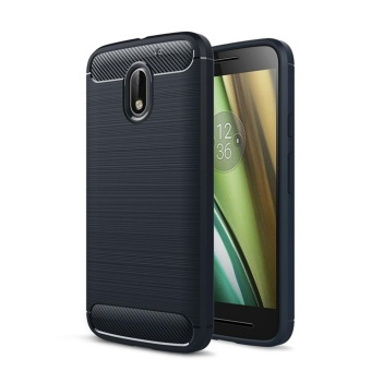 Soft TPU Case Anti-Slip Cover for Motorola Moto E3 - Navy Blue -intl