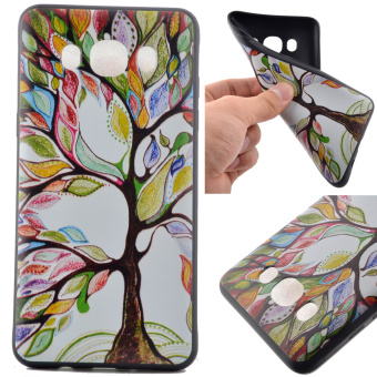 Soft TPU Case for Samsung Galaxy J5 (2016) - Colorful Tree - intl