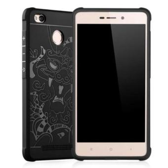 Softcase Dragon Casing for Xiaomi Redmi 3 Pro or 3 S - Black