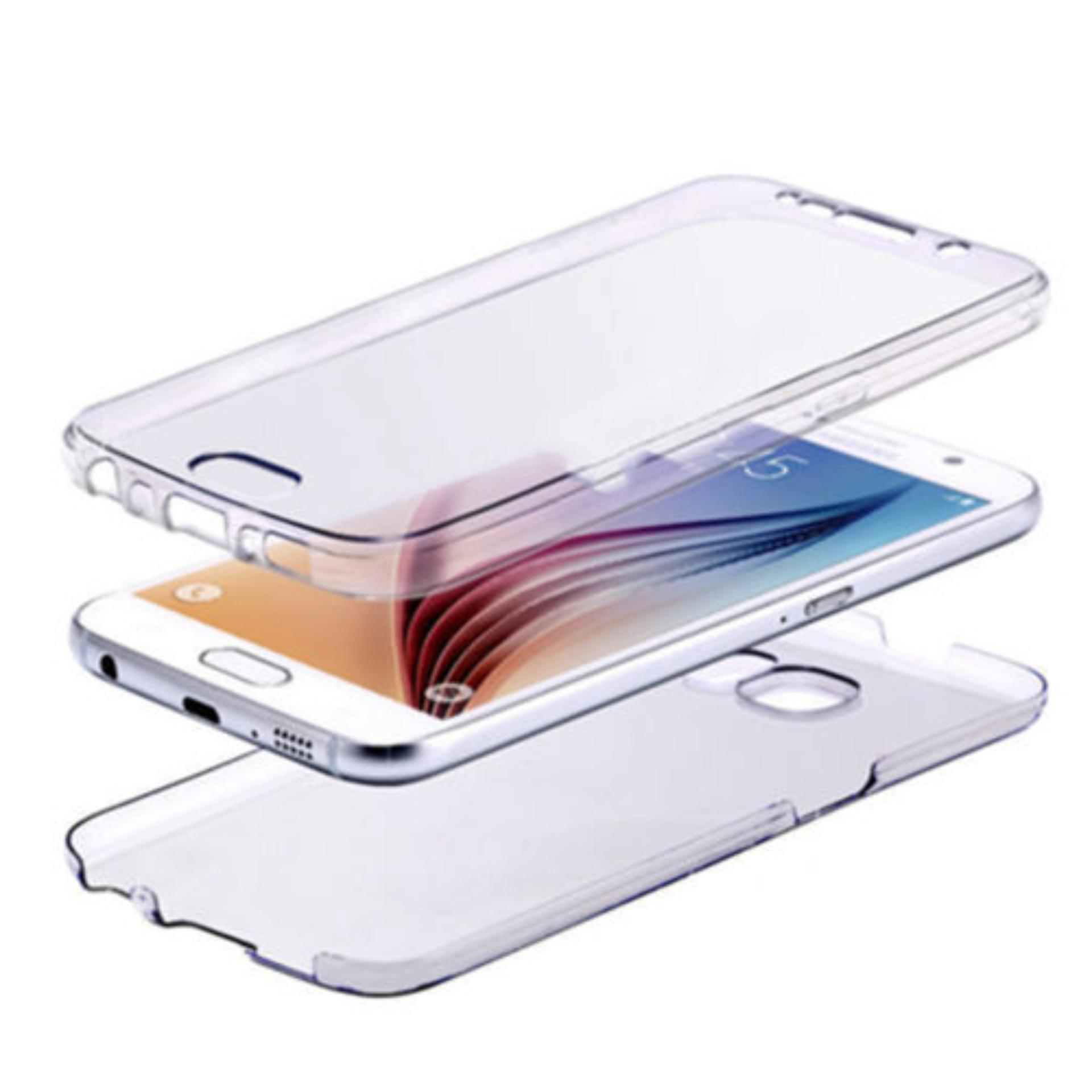 Softcase Silicone 360 Full Body Softshell Depan Belakang ForSamsung S6 Edge Clear