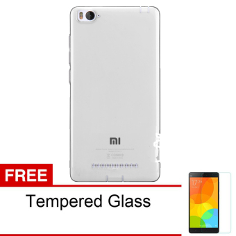 Softjacket Xiaomi Mi4i / Xiaomi Mi4c Ultrathin Fit 0.3mm - Hitam + Gratis Tempered Glass ...