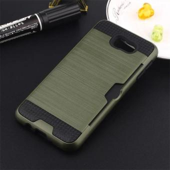 ... J5 Prime On5 2016 With Card Holder Army Green Intl. Gambar Solid Brushed PC TPU Phone Accessory Case for Samsung Galaxy J5Prime On5 2016 with