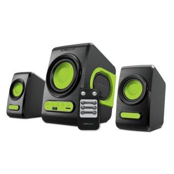 Sonic Gear Speaker 2.1 Quatro V Speakers Komputer Laptop NotebookMacbook Windows Kabel Aux Sonicgear Super Bass