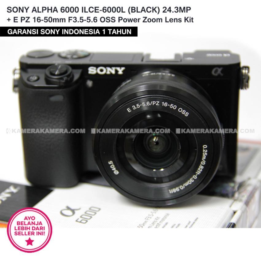SONY ALPHA 6000 ILCE-6000L (BLACK) 24.3MP + E PZ 16-50mm F3.5-5.6 OSS Power Zoom Lens Kit