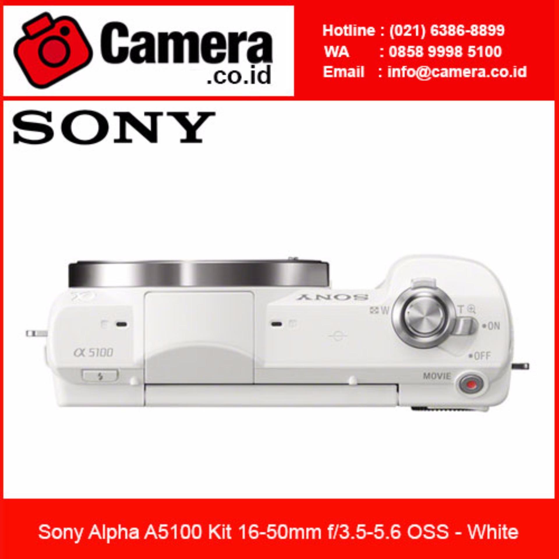 Bandingkan Simpan Sony Alpha A5100 Kit 16 50mm White Free 8gb Kamera Mirrorless