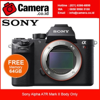SONY Alpha A7R Mark II Kamera Mirrorless Body Only - Hitam +BONUS 64GB