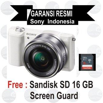 Sony ILCE Alpha A5100L E PZ 16-50mm f/3.5-5.6 OSS - White Mirrorless