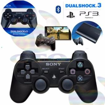 Sony Playstation Ps3 Stick DualShock Wireless Controller / Gamepad Joy Stik Ps 3 / Sony Stik Ps3 - Black / Hitam