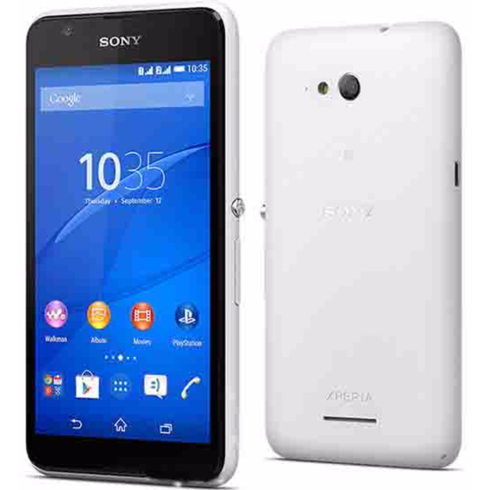 Sony Xperia E4 Dual Resmi - 8 GB - Putih ...