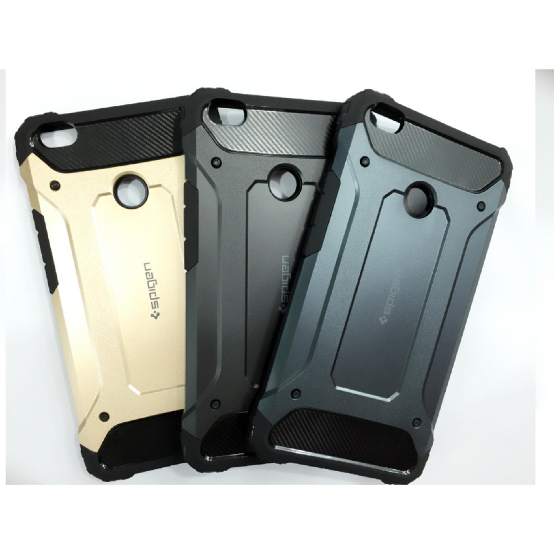 Spigen Tough Armor Shockproof Hybrid Tech Back Case for Xiaomi MiMax - Black + Gratis Tempered ...