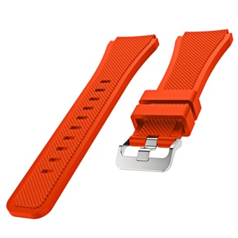 Sports Soft Silicone Replacement Watch Band Strap WatchbandWristband for Samsung Gear S3 Frontier Classic Orange -