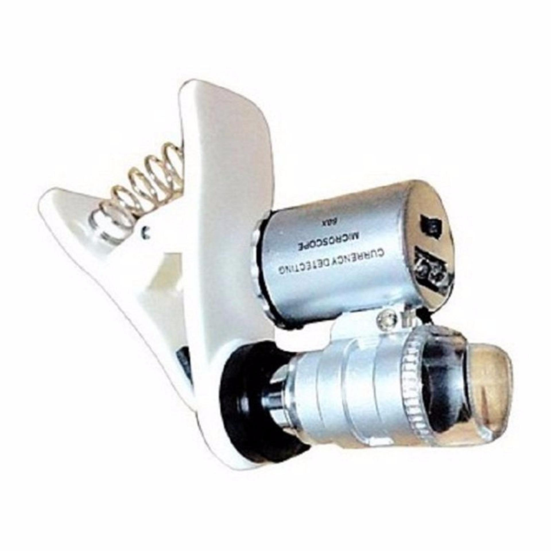 StarStore Mikroskop Handphone Clip On Microscope LED Ponsel PhoneBatu Emas