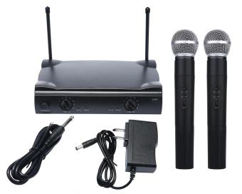 stazub Dual Wireless Cordless Microphone System with SHURE WirelessUT4 Type +2 MIC