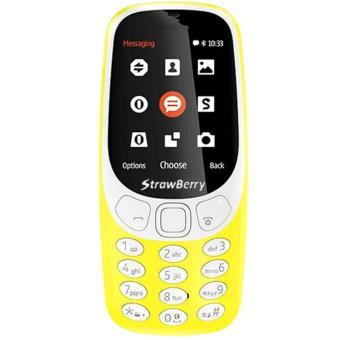 Strawberry Maroko 3310 - Dual SIM - Kuning