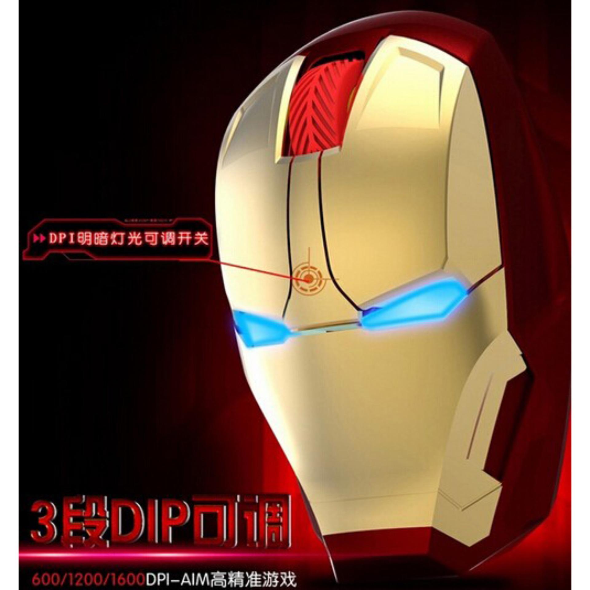 Belanja Terbaik Taffware Mouse Wireless Optical Iron Man 24ghz 24g Black