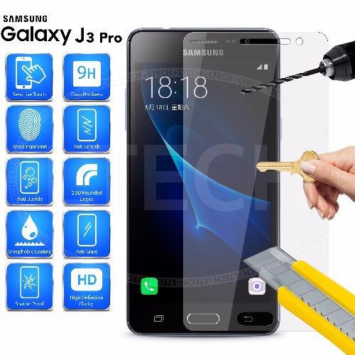Tempered Glass 0.2mm Anti Gores Kaca Samsung Galaxy J3 2016 .