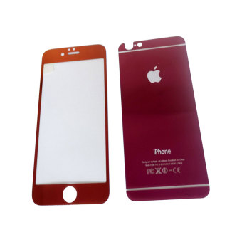 Tempered Glass 2in1 Mirror Glossy For Apple iPhone 6 plus /Iphone6+ Ukuran 5.5 inch/