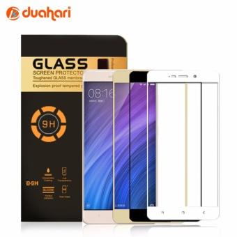 Tempered Glass Full Cover Warna Hitam Screen Protector untuk Xiaomi Redmi 4X