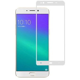 Tempered Glass Warna Oppo F1S Full Screen - Putih