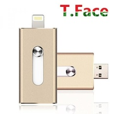 T.Face 16GB Flash Drive with 8 pin Lightning Connector drive HD memory stick Dual purpose mobile Otg Micro Usb Flash Drive for iPhones 6s/6s Plus (Gold) - intl