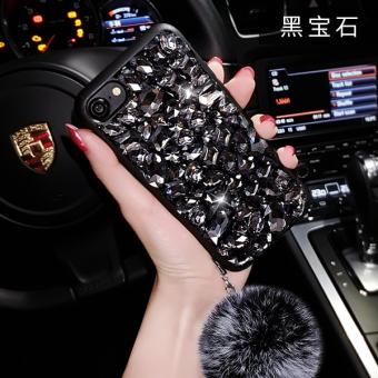 Tide merek phone6splus berlian mewah bola rambut lanyard soft shell handphone shell