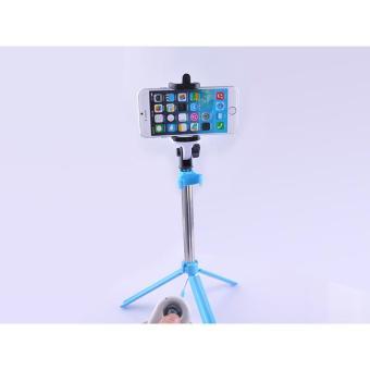 Tongsis Mini Selfie Stick WXY-02 with Tripod Legs & Bluetooth Camera Shutter - Putih