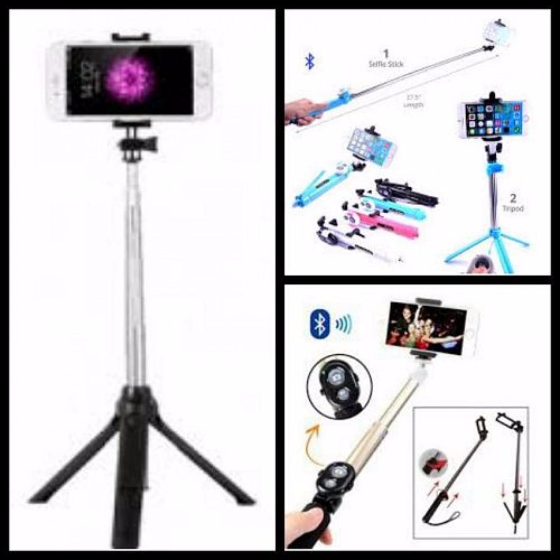 Tongsis Multi Function Build In Tripod Selfie Stick With BluetoothExtendable Folding Stick for Iphone Smartphone Free ...