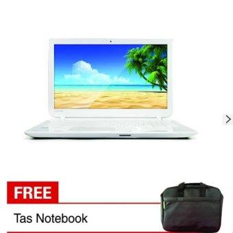 "Toshiba - C55-B1044 - Intel Core i3-4005 - 4GB - 15.6 ""- Putih + Gratis Tas Notebook"