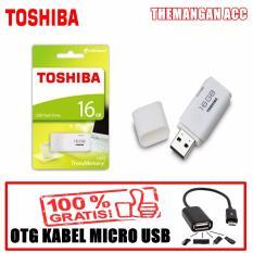 Toshiba Flasdisk 16GB USB Flash Memory + Bonus OTG Kabel Micro USB