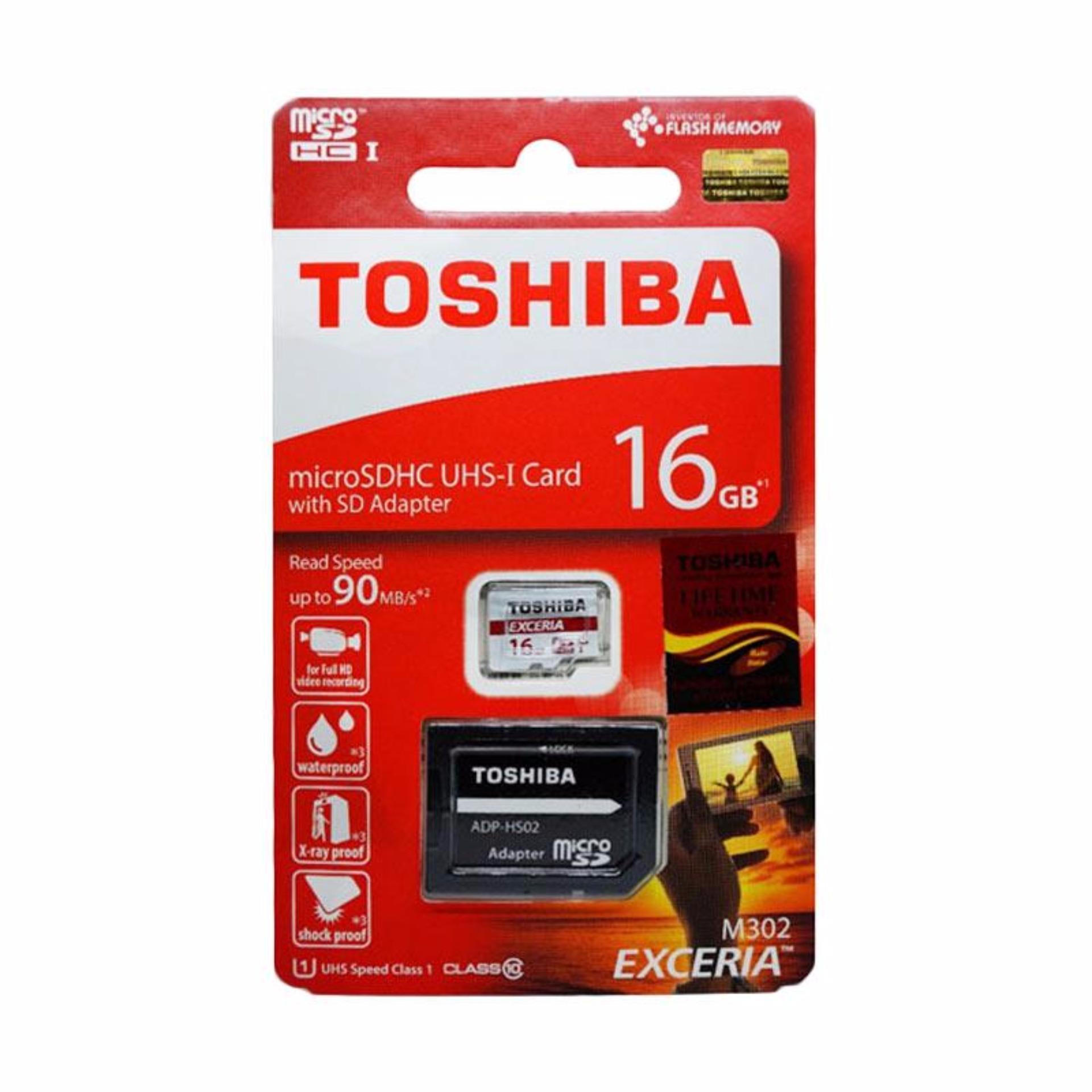 Toshiba Micro SD UHS-I 90MB/s 16GB Class 10 with .