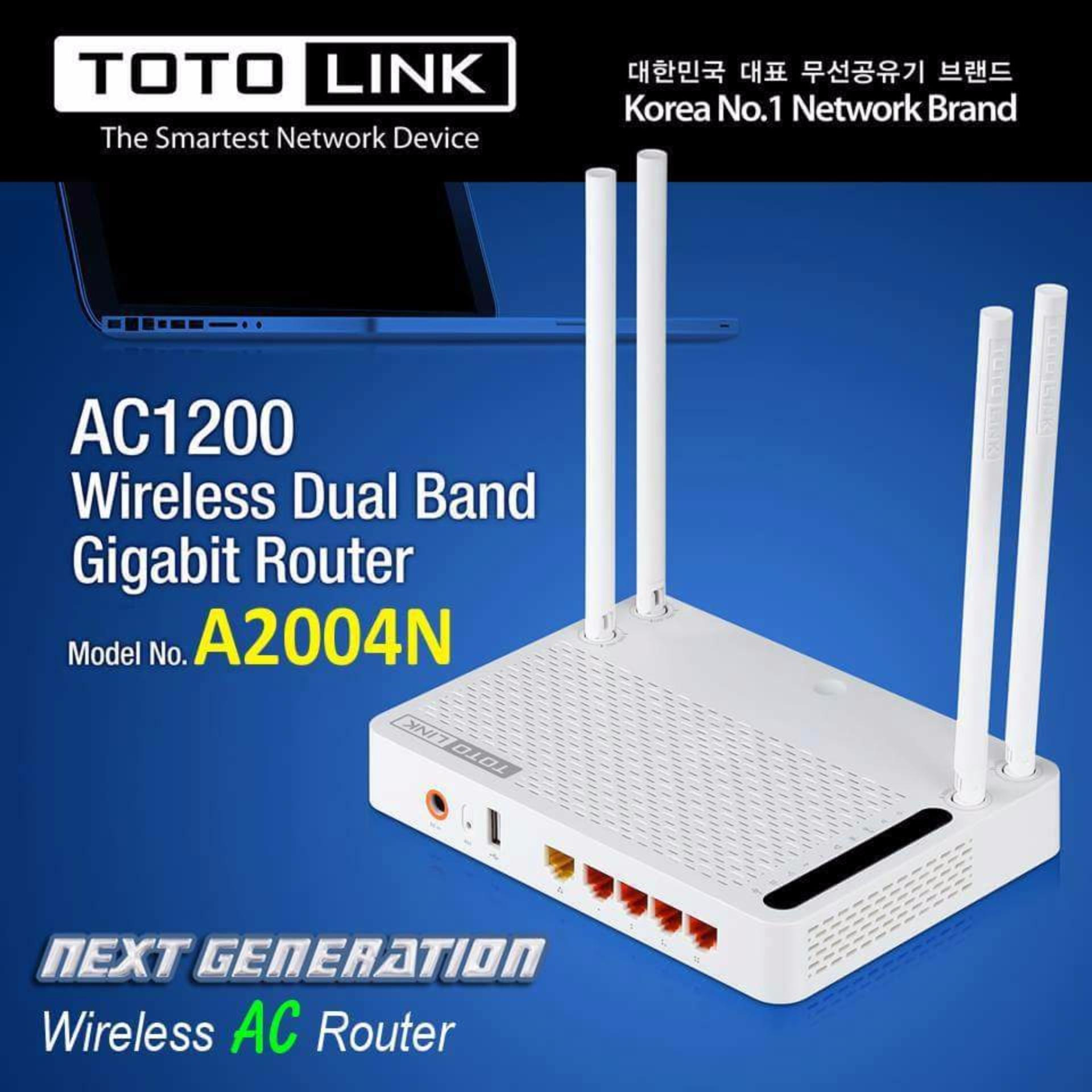 Anggaran Terbaik Totolink A2004ns 12gbps Wireless Dual Band Pl200kit 200mbps Powerline Adapter Gigabit Router With Usb Port