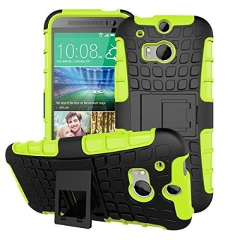 Tough Heavy Duty Shock Proof Defender Cover Dual Layer Armor Combo Protective Hard Case Cover for HTC One (M8) 5.0 Inch - intl